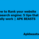How to Rank your website in search engine