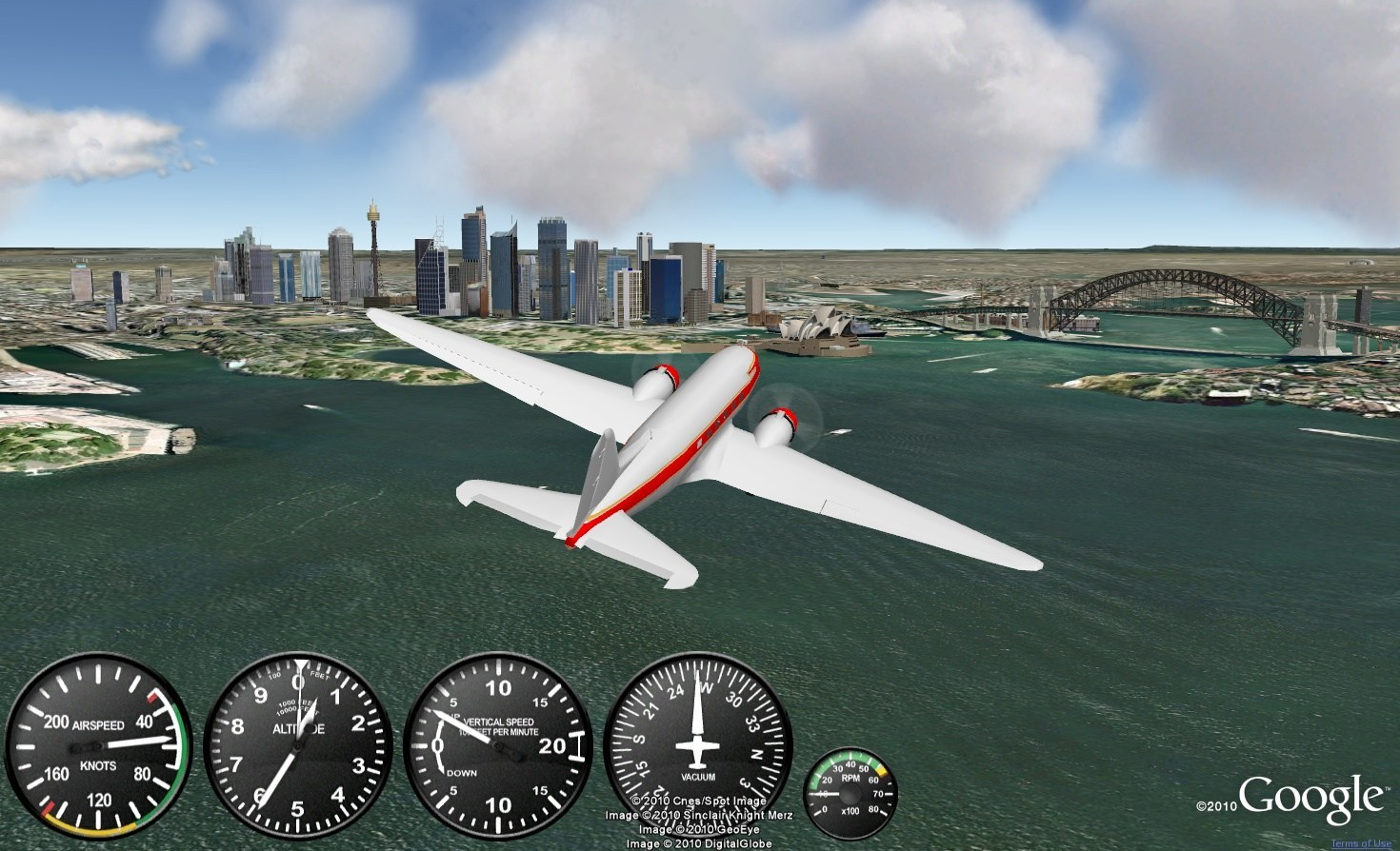 google earth flight simulator