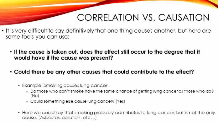 Correlation is not a Causation statement