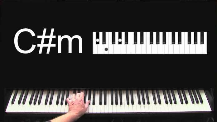 c#m piano chord